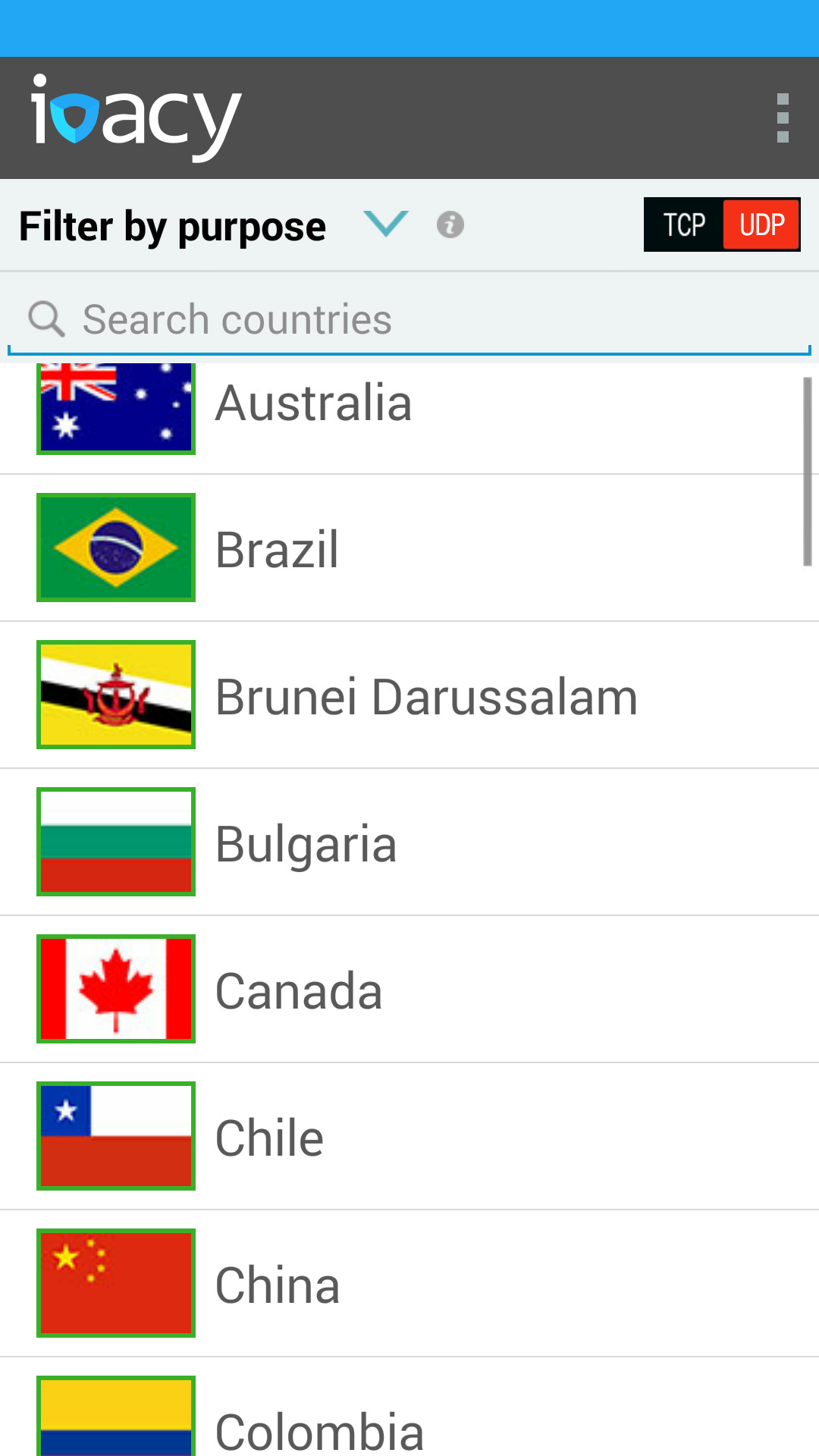 Ivacy for Android